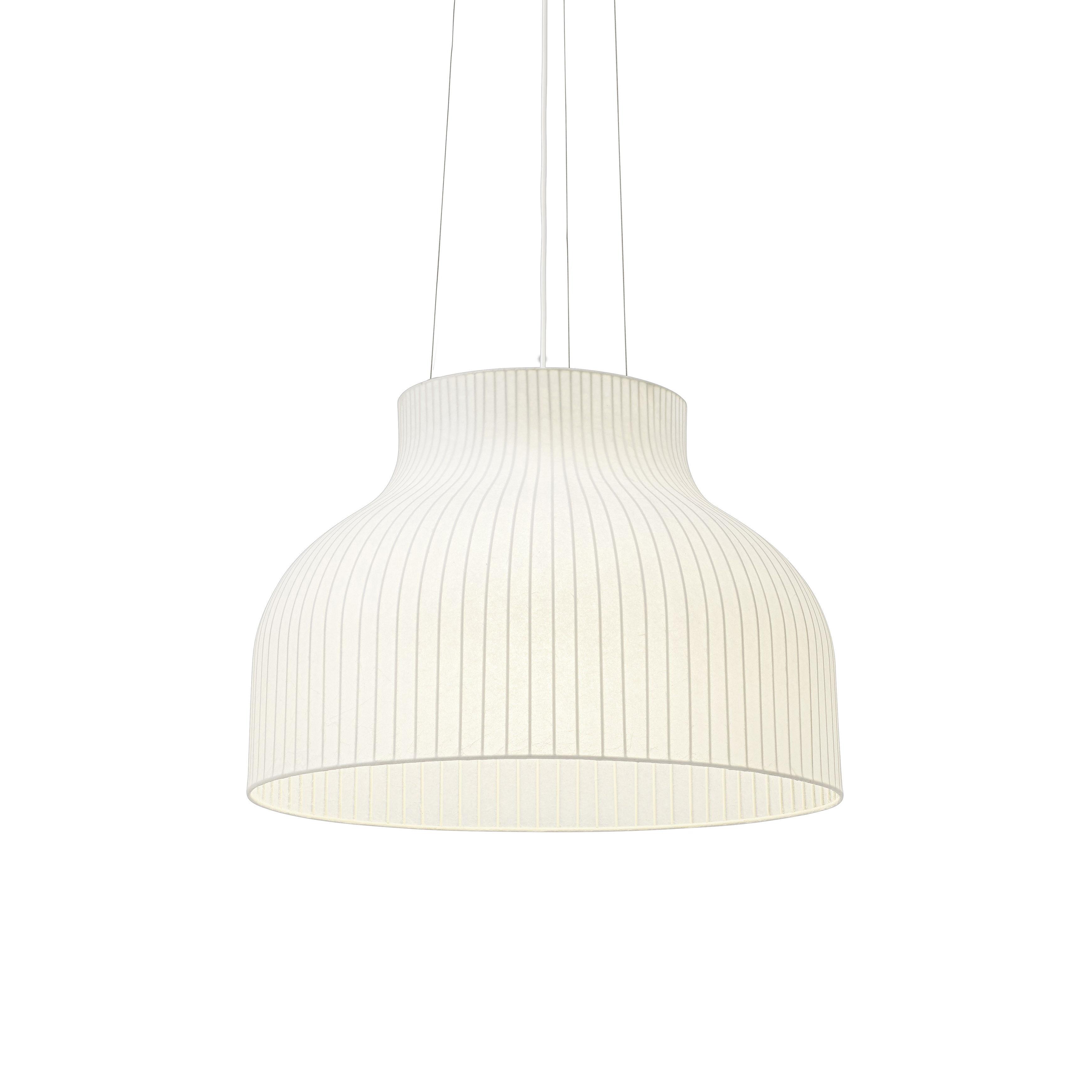 Luminaire - Suspensions - Suspension Strand Open / Ø 60 cm - Résine cocon - Muuto - Blanc - Acier, Résine cocon
