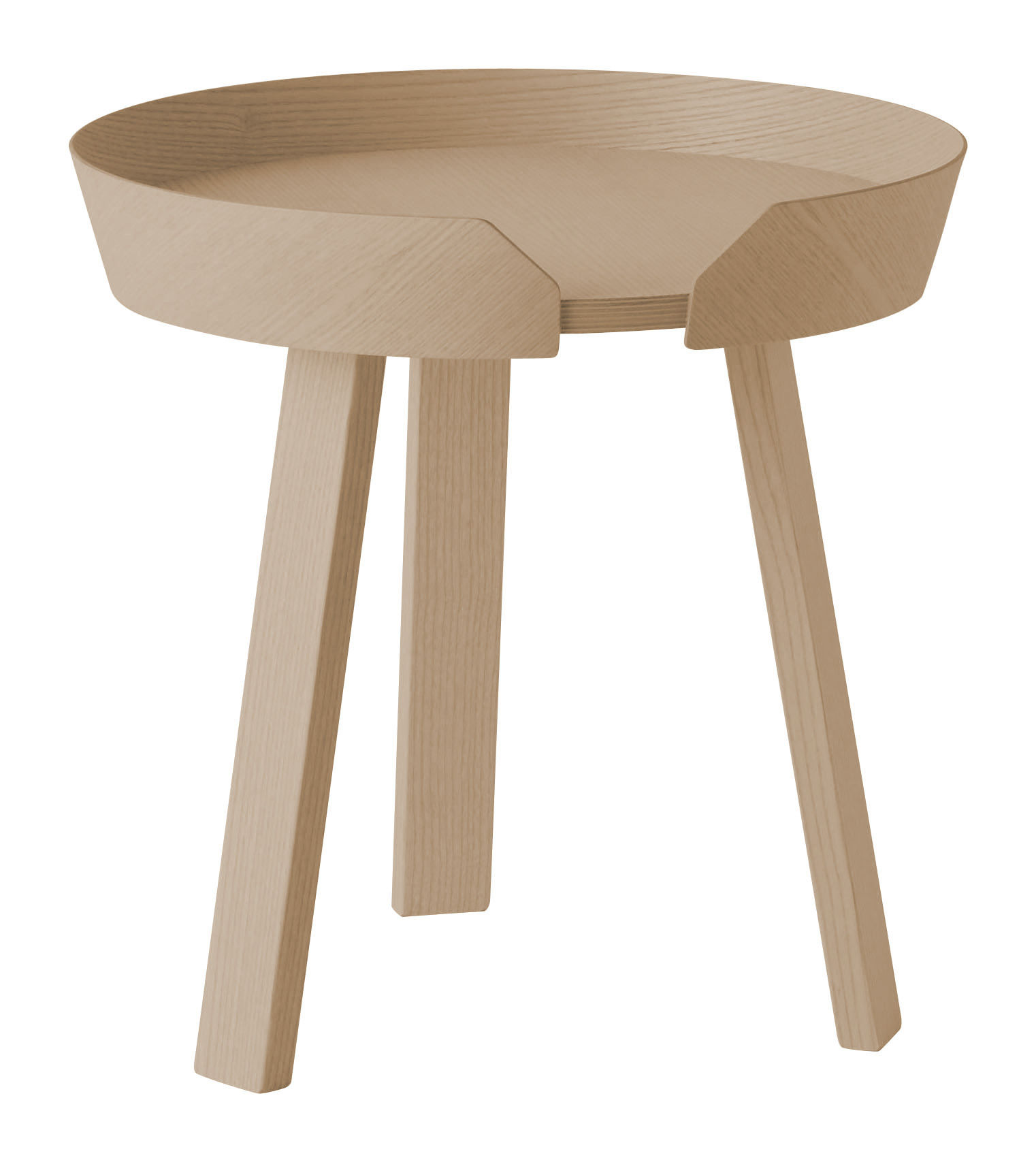 Mobilier - Tables basses - Table basse Around Small / Ø 45 x H 46 cm - Muuto - Chêne naturel - Chêne