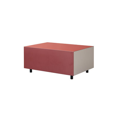 Table basse Bloc Small / 1 tiroir - 64 x 45 cm - Established & Sons rouge en bois