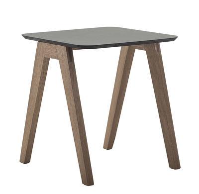 Table basse Monk / 41 x 41 cm - Prostoria Ltd noir/bois naturel en bois