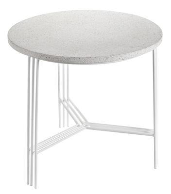 Table basse Terrazzo / Ø 50 x H 45 cm - Serax blanc en métal