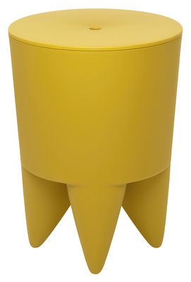Mobilier - Tabourets bas - Tabouret New Bubu 1er / Coffre - Plastique - XO - Jaune Bollywood - Polypropylène