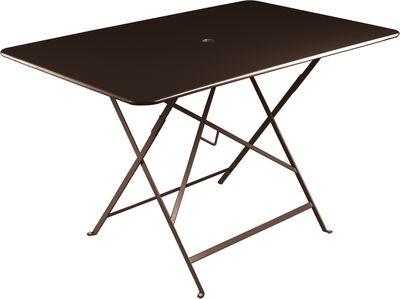 Outdoor - Tavoli  - Tavolo pieghevole Bistro - / Pieghevole - 117x77cm - 6 persone di Fermob - Ruggine - Acciaio laccato