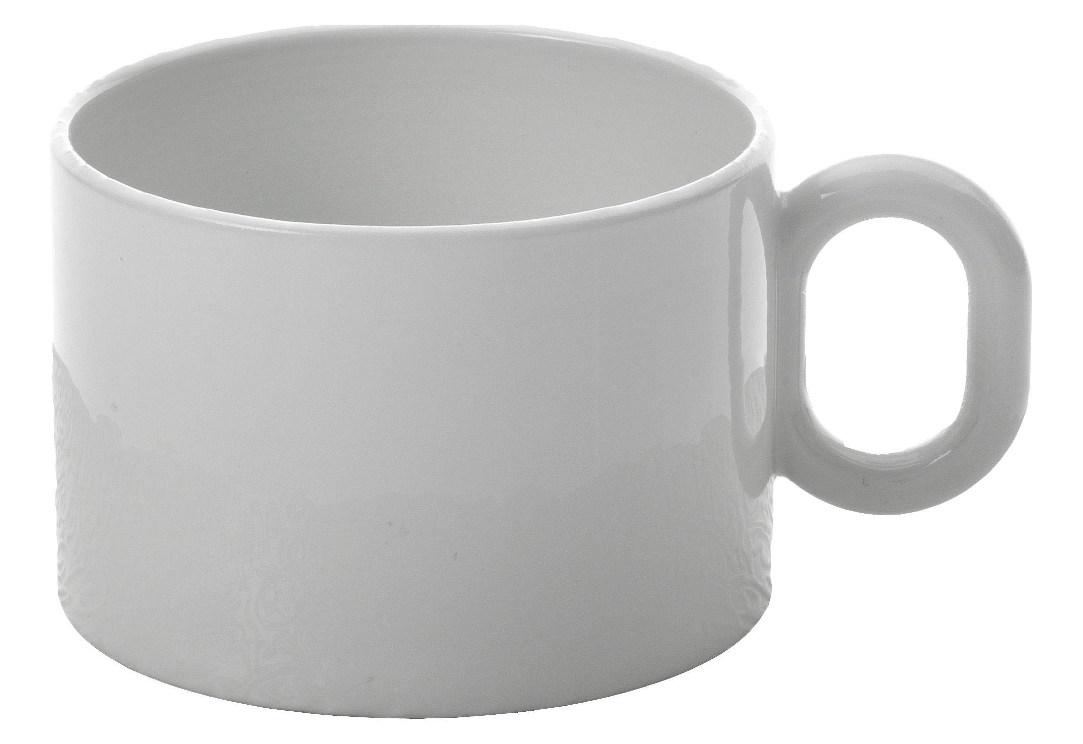 Tavola - Tazze e Boccali - Tazza da tè Dressed di Alessi - Tazza da tè - Bianco - Porcellana