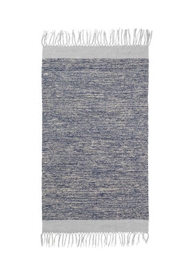Melange Teppich / 60 x 100 cm - handgewebt - Ferm Living - Blau