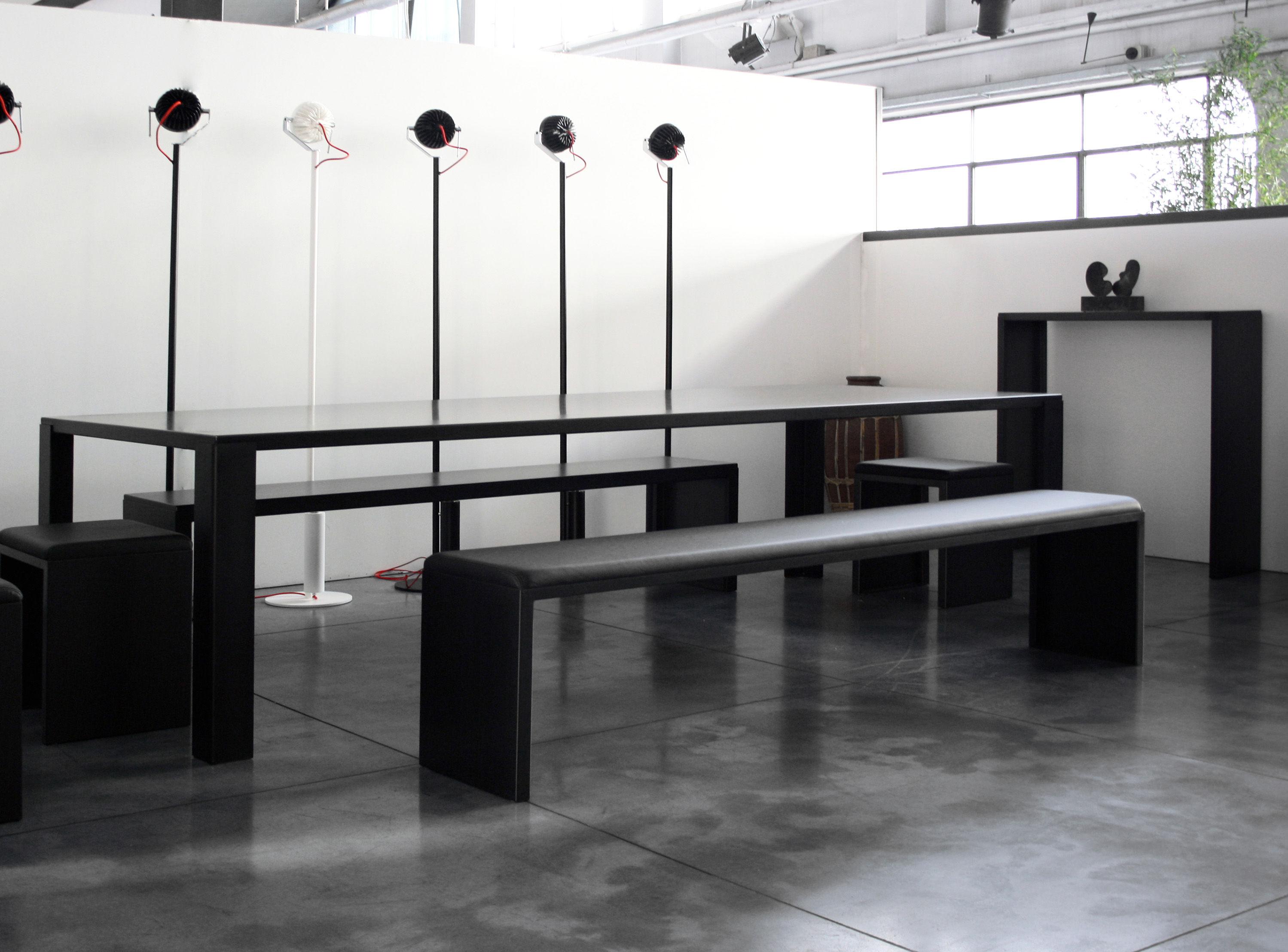Big irony rechteckige tischplatte aus stahl zeus tisch