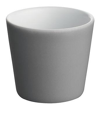 Tischkultur - Tassen und Becher - Tonale Tasse expresso - Alessi - Dunkelgrau / innen weiß - Keramik im Steinzeugton