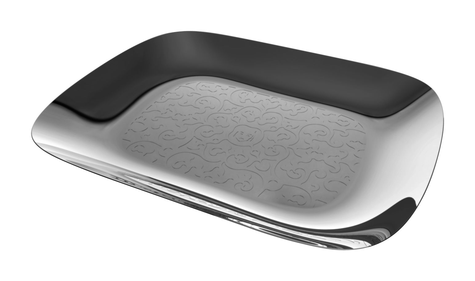 Tableware - Trays - Dressed Tray - Rectangular 45 x 34 cm by Alessi - 45 x 34 cm - Mirror polished steel - Glossy stainless steel