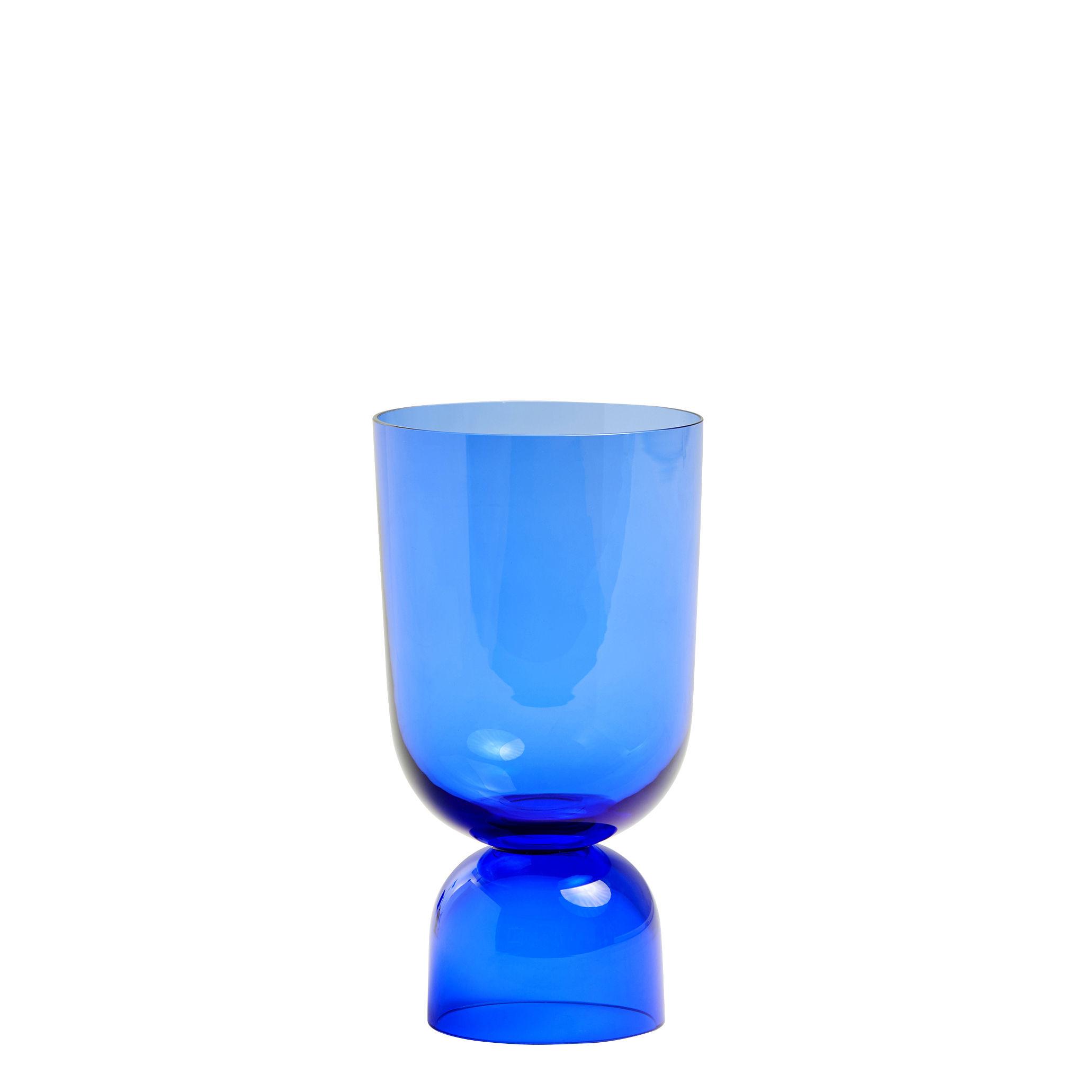 Interni - Vasi - Vaso Bottoms Up - / Small - H 21 cm di Hay - Blu elettrico - Vetro colorato