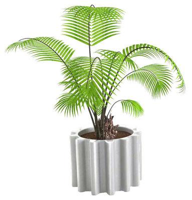 Outdoor - Vasi e Piante - Vaso per fiori Gear - versione laccata di Slide - Bianco laccato - Polietilene riciclabile laccato