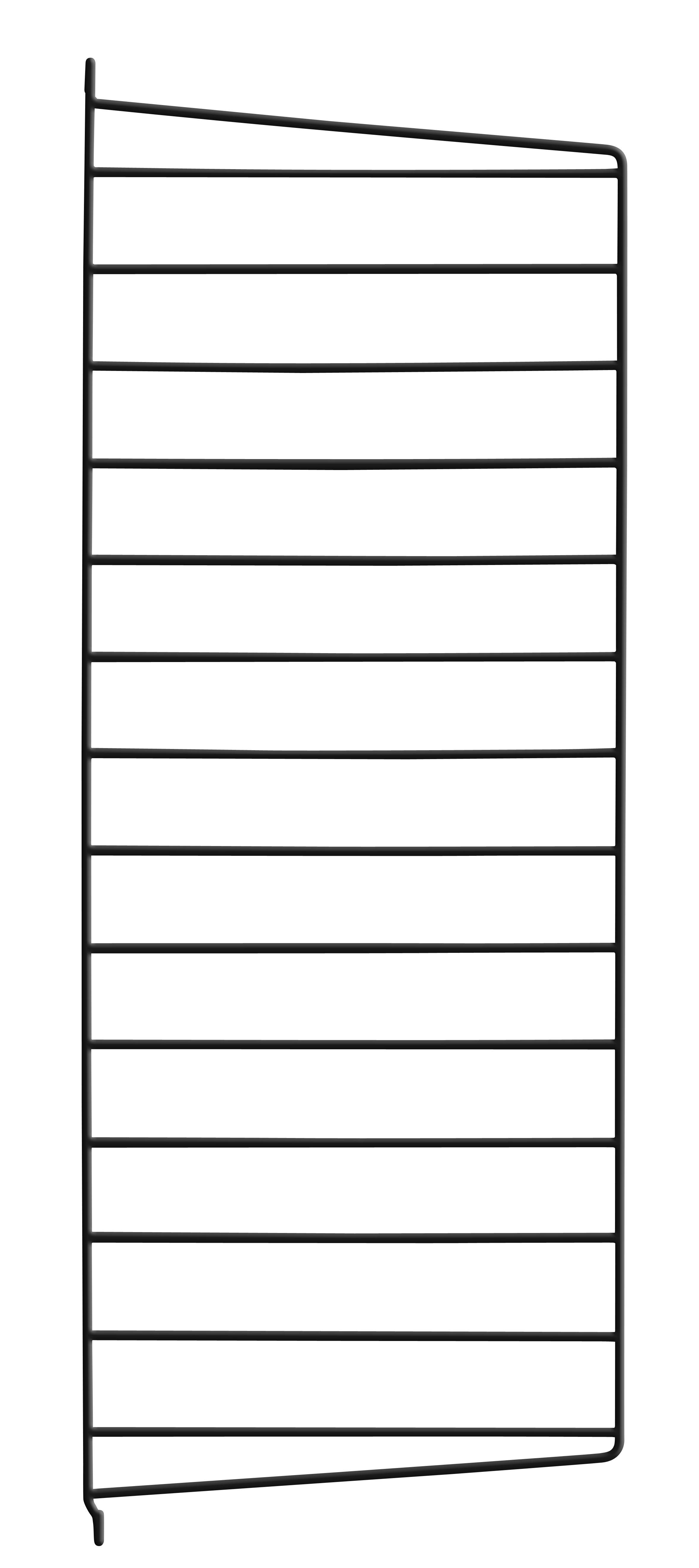 Möbel - Regale und Bücherregale - String system Wandhalterung / zur Wandbefestigung - String Furniture - Schwarz - lackierter Stahl
