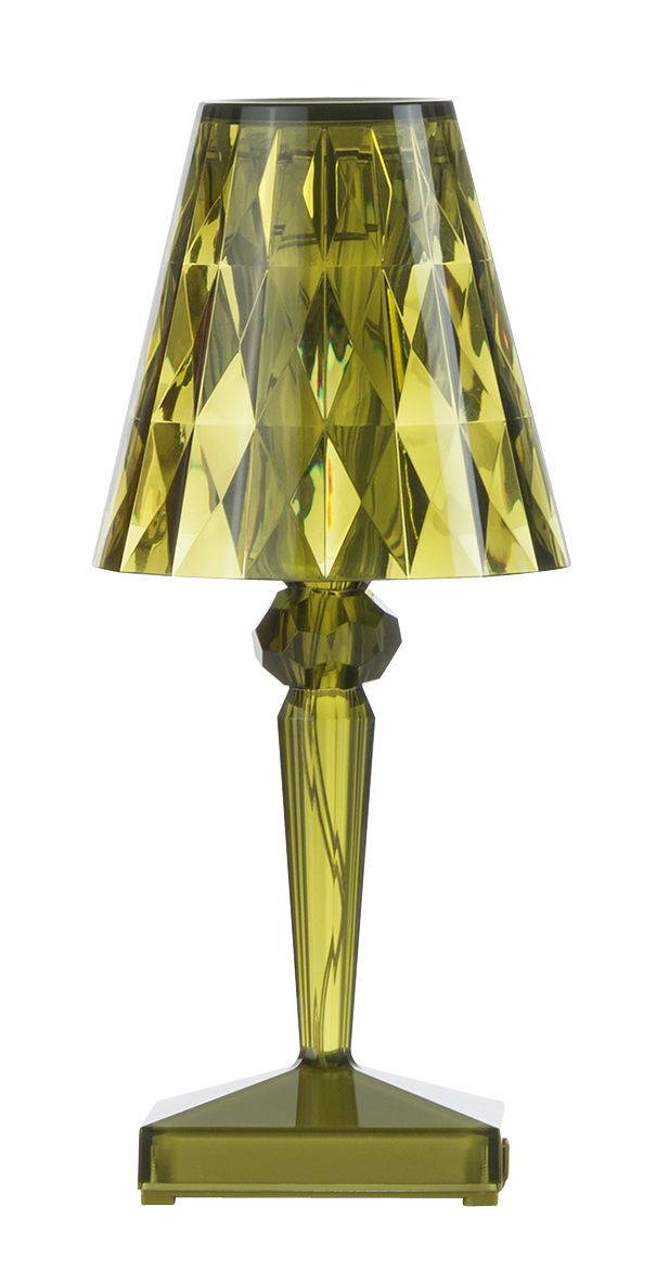Lighting - Table Lamps - Battery LED Wireless lamp - Wireless - USB by Kartell - Green - PMMA