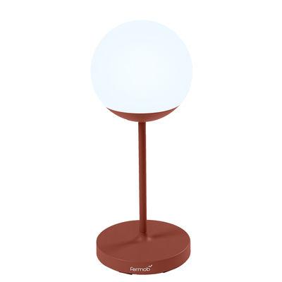 Lighting - Table Lamps - Mooon! Wireless lamp - / H 63 cm - Bluetooth by Fermob - Ochre red - Aluminium, Polythene