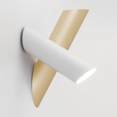 Illuminazione - Lampade da parete - Applique 2 Tubes - / LED - Orientabile di Nemo - Blanc & or - alluminio estruso, policarbonato