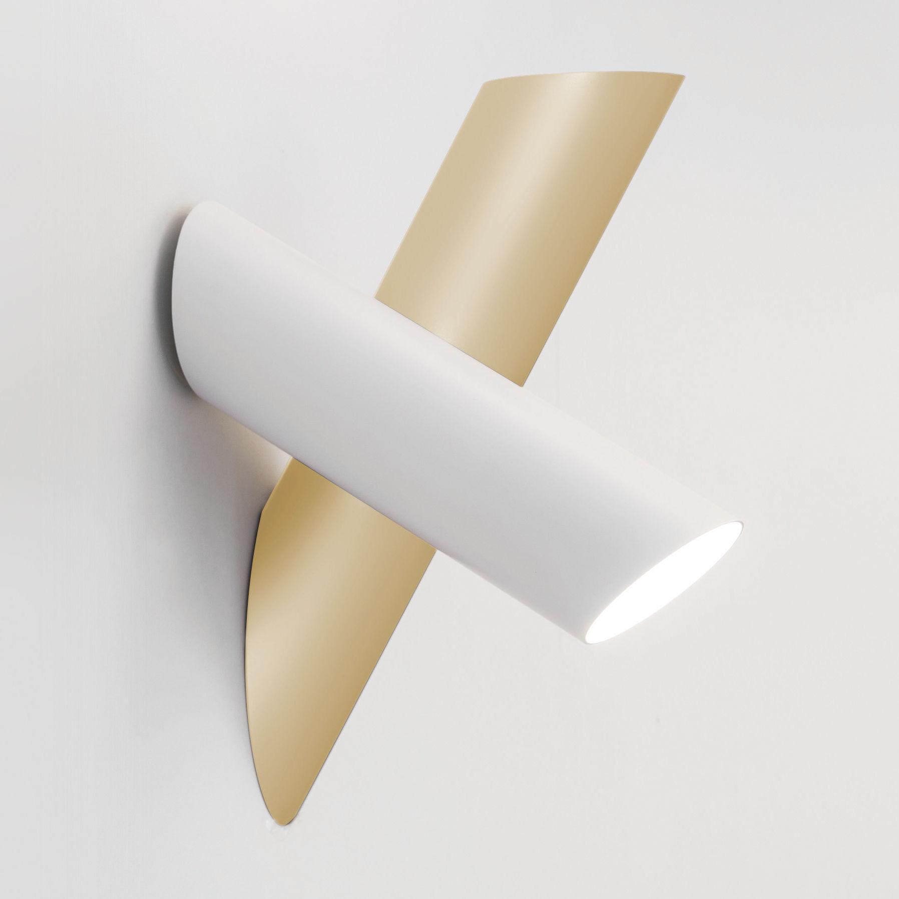 Illuminazione - Lampade da parete - Applique Tubes 2 - / LED - Orientabile di Nemo - Blanc & or - alluminio estruso, policarbonato