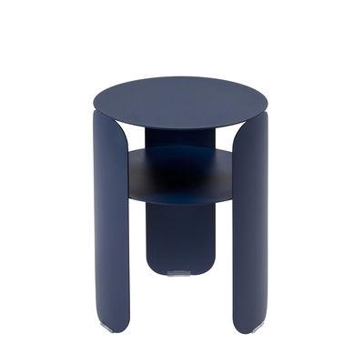 Möbel - Couchtische - Bebop Beistelltisch / Ø 35 x H 45 cm - Fermob - Tiefseeblau - bemaltes Aluminium
