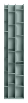 Bibliothèque Random 3C / L 46 x H 217 cm - MDF Italia bleu ciel en bois