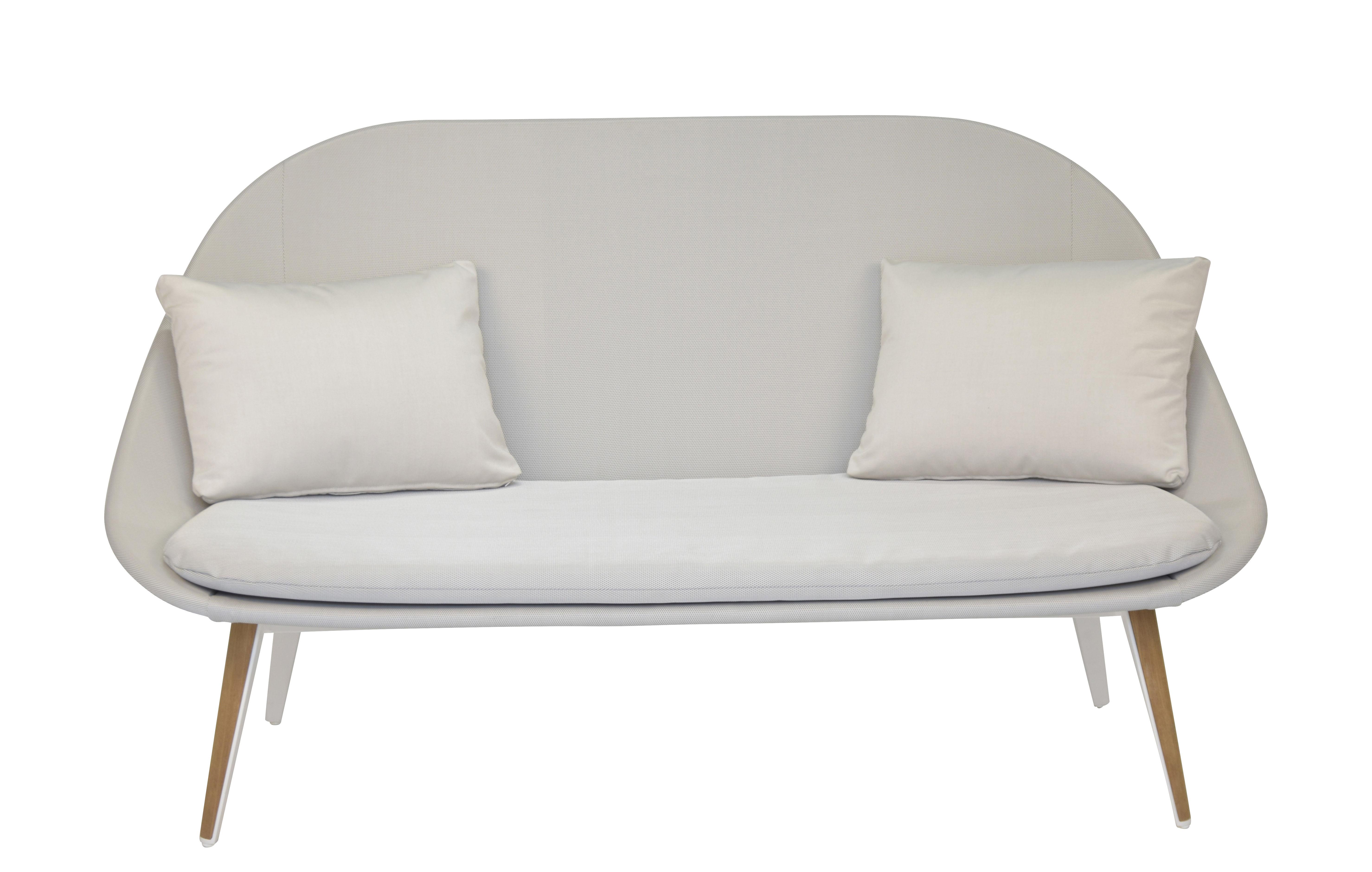 Vanity Sofa 2 Sitze / gepolstert - Textil & Teak - Vlaemynck
