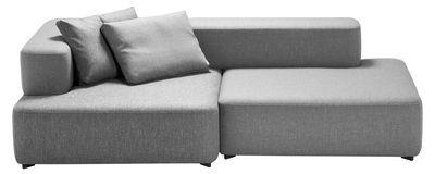 Canapé droit Alphabet / modulable - 2 places - L 210 x P 120 cm - Fritz Hansen gris clair en tissu