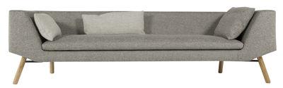 Mobilier - Canapés - Canapé droit Combine / 3 places - L 240 cm - Prostoria Ltd - Gris / Piètement chêne - Bois, Tissu