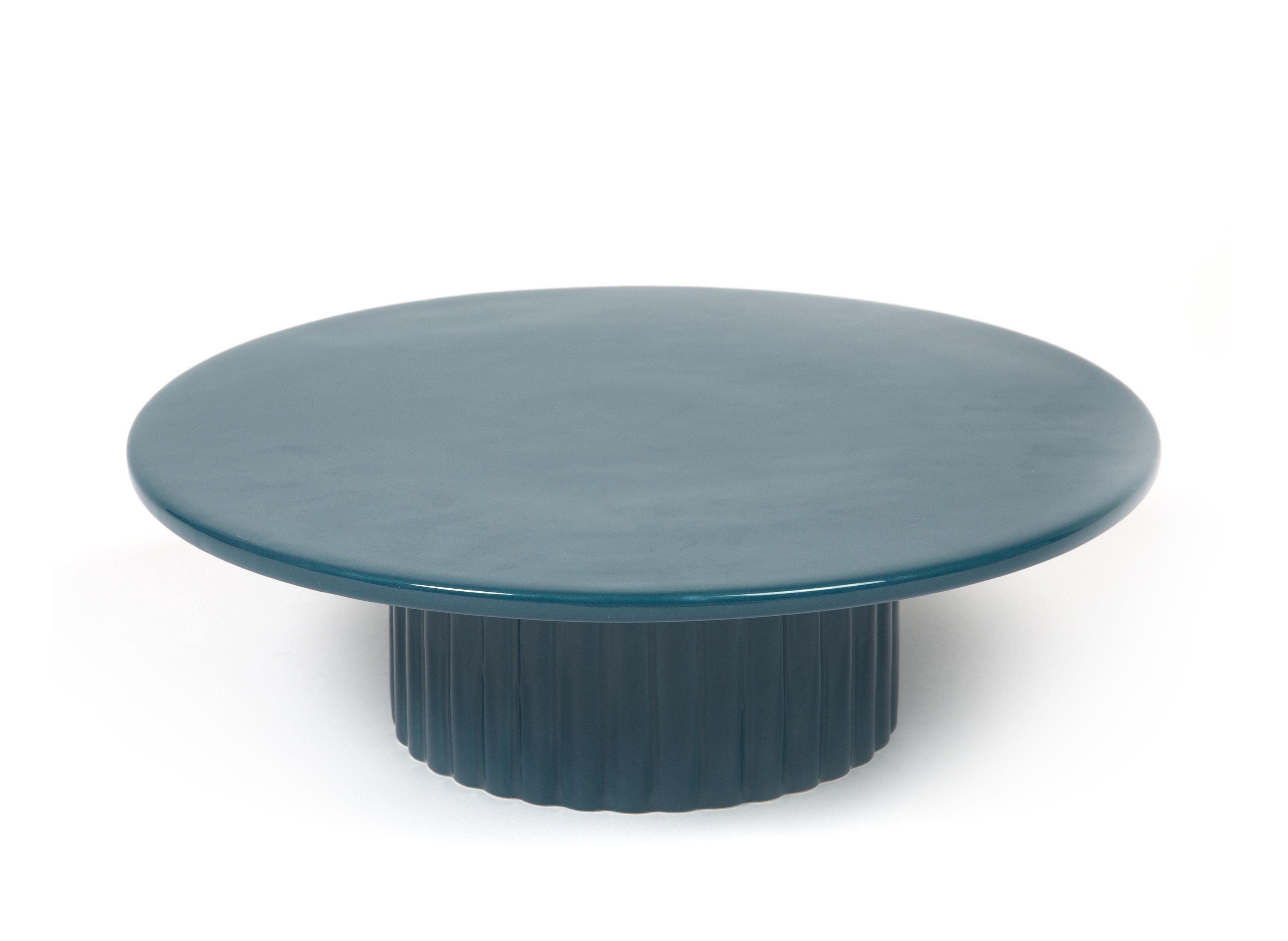 Arts de la table - Plats - Centre de table Délice / Plat à gâteau - Céramique - Ø 32 cm - Maison Sarah Lavoine - Bleu - Céramique