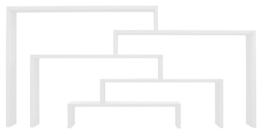Arredamento - Scaffali e librerie - Console: Babilonia XL - /Set da 5 di Zeus - Bianco semi opaco - Tôle d'acier naturelle