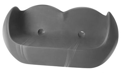 Arredamento - Mobili Ados  - Divano destro Blossy - versione laccata di Slide - Laccato grigio - Polietilene riciclabile laccato