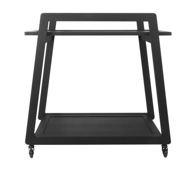 Furniture - Miscellaneous furniture - John Dresser - On wheels - L 76,5 cm by XL Boom - Black - Wood with painted veneer