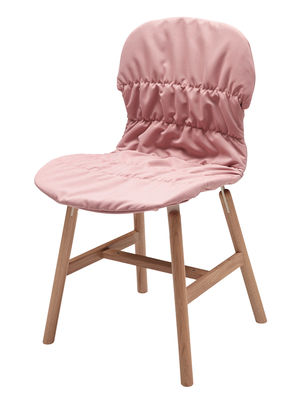 Image of Fodera per sedia - / Per sedie Stereo Wood e Stereo 4 gambe di Casamania - Rosa pallido - Tessuto