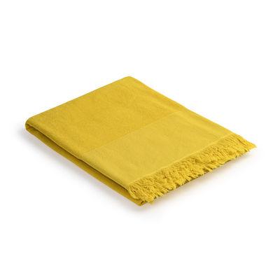 Decoration - Bedding & Bath Towels - Fouta - /  Bath towel - 93 x 165 cm - Cotton by Au Printemps Paris - Yellow - Cotton