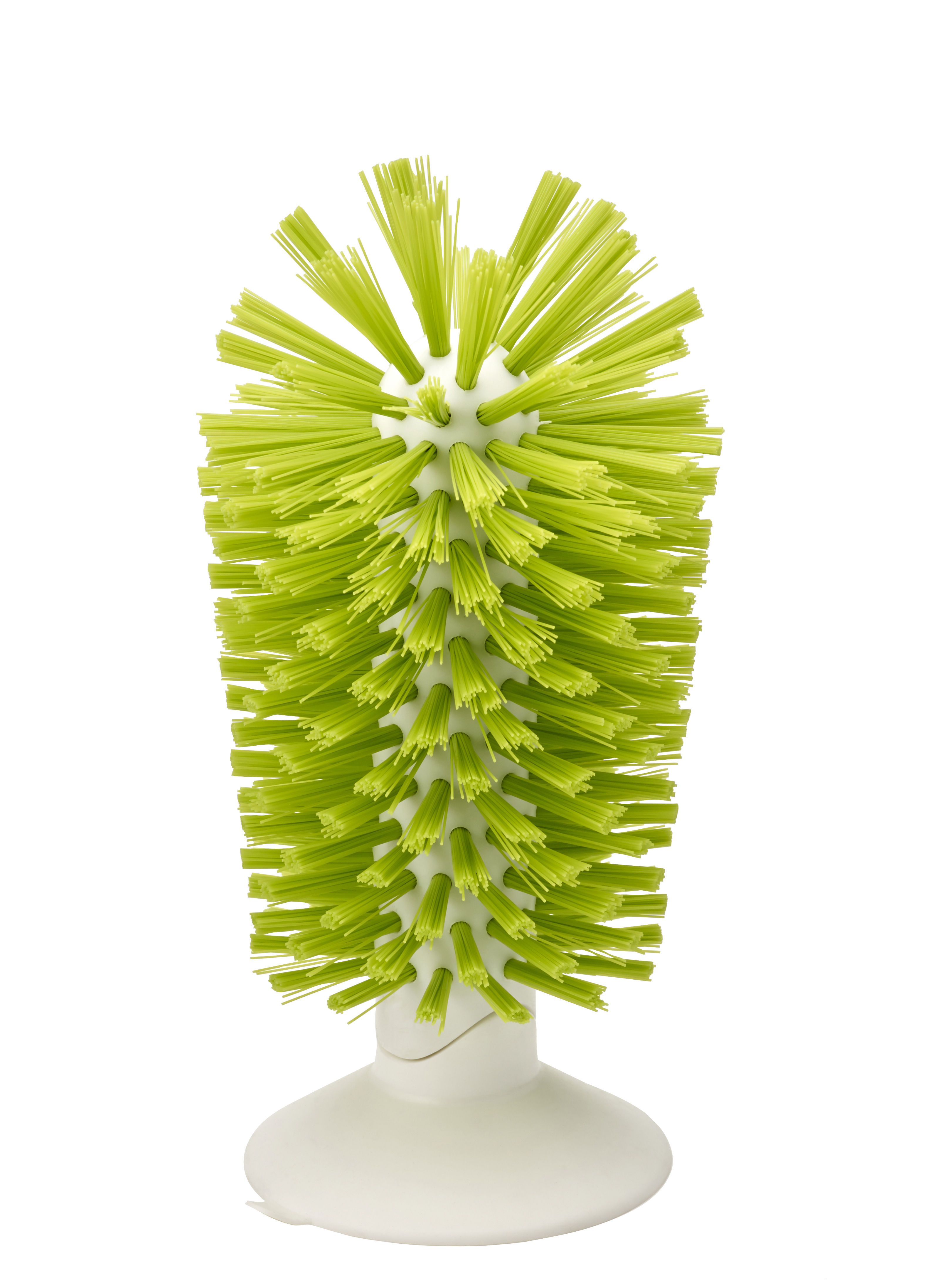 Kitchenware - Kitchen Sink Accessories - Brush-up Glasses brush - Suction by Joseph Joseph - Green - ABS, Nylon
