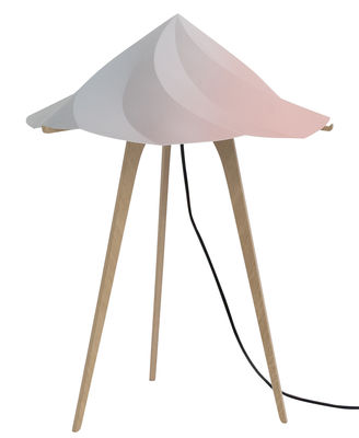 Illuminazione - Lampade da tavolo - Lampada da posa Chantilly Large - / H 65 cm di Moustache - Multicolore - Multistrato di rovere, Polipropilene riciclato