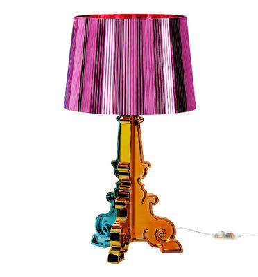 Luminaire - Lampes de table - Lampe de table Bourgie / H 68 à 78 cm - Kartell - Fuchsia - ABS