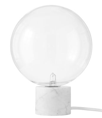 Lampe de table Marble Light SV6 / Marbre - &tradition blanc en verre