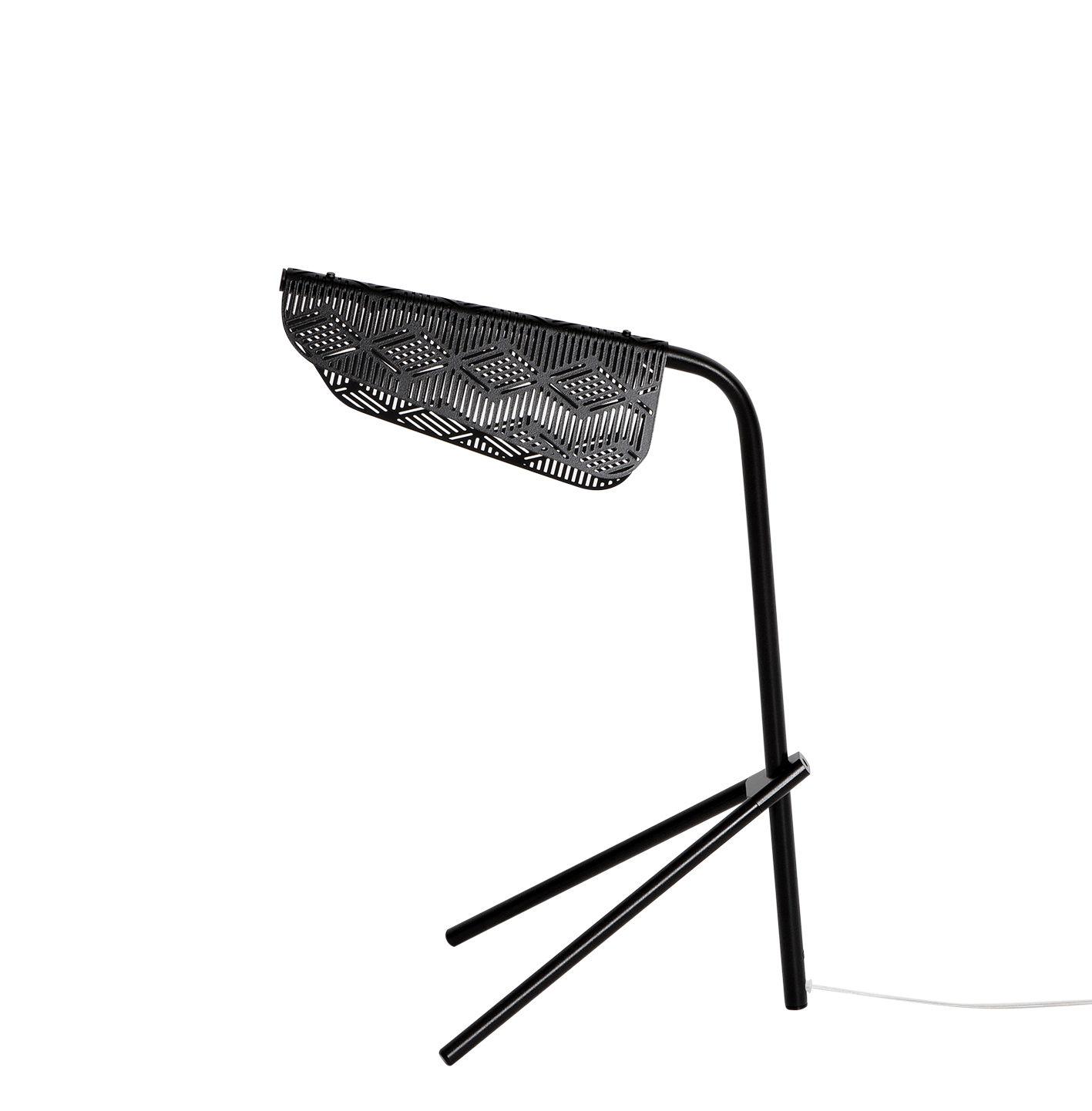 Luminaire - Lampes de table - Lampe de table Méditerranéa / LED - Métal perforé - Petite Friture - Noir - Laiton verni
