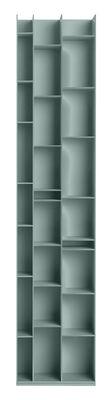 Arredamento - Scaffali e librerie - Libreria Random 3C - / L 46 x H 217 cm di MDF Italia - Blu cielo - Fibra di legno