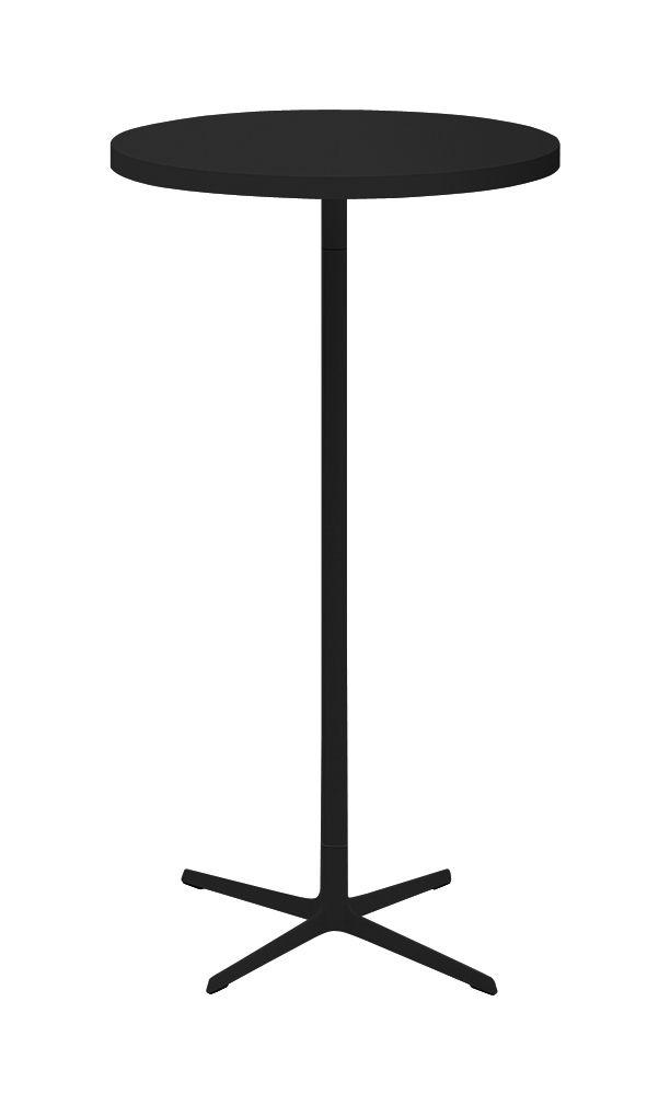 Mobilier - Mange-debout et bars - Mange-debout Ginger Ø 70 cm - Arper - Noir mat - Aluminium laqué, Polypropylène