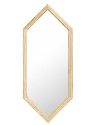Déco - Miroirs - Miroir mural Lust   Small / L 29 x H 70 cm - Normann Copenhagen - Small / Argent & chêne - Chêne naturel, Verre