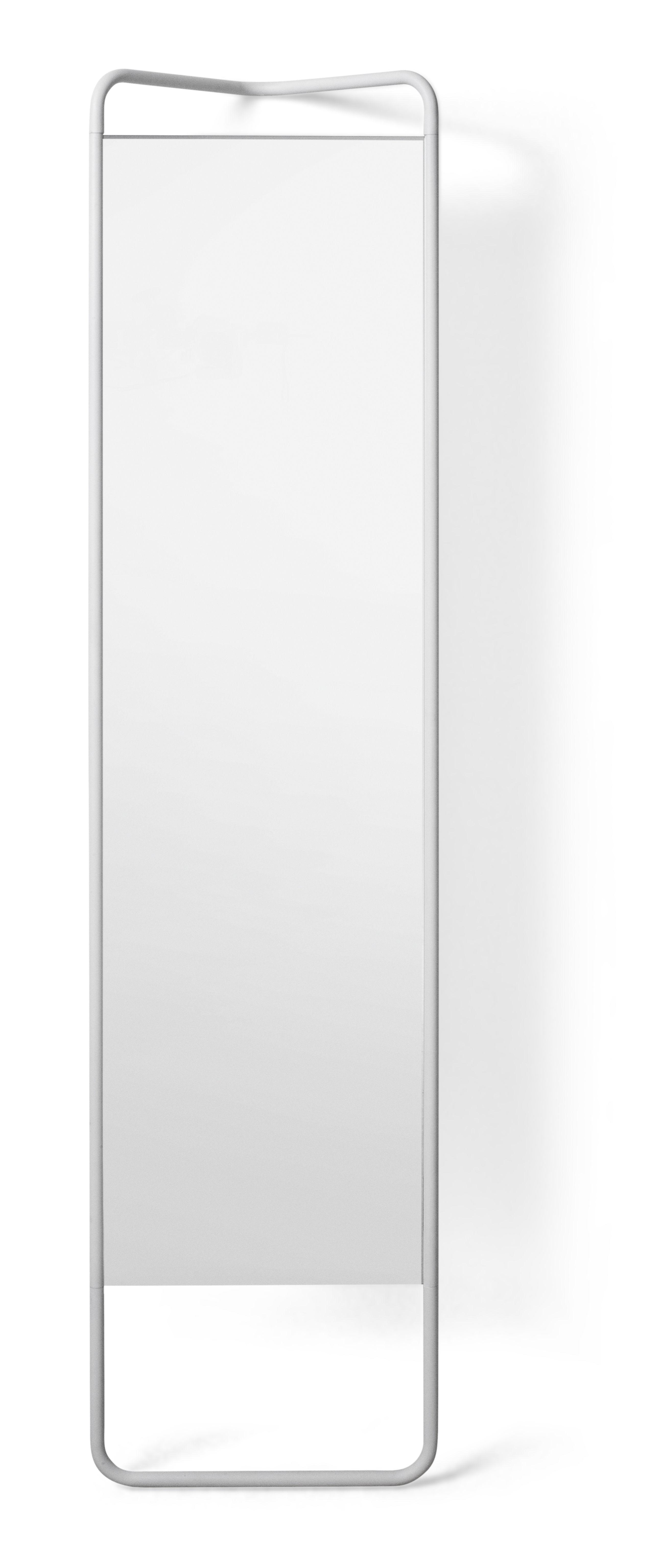Déco - Miroirs - Miroir sur pied Kaschkasch / à poser - L 42 x H 175 cm - Menu - Blanc - Aluminium laqué, Verre