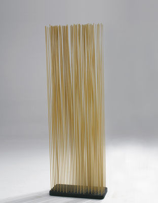 Möbel - Paravents, Raumteiler und Trennwände - Sticks Paravent L 60 x H 120 cm - für innen - Extremis - H 120 cm - natur - Recycelter Gummi, Verstärkte Glasfaser