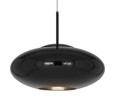 Lighting - Pendant Lighting - Copper Wide Pendant - / Ø 50 x H 22 cm by Tom Dixon - Glossy black - Polycarbonate