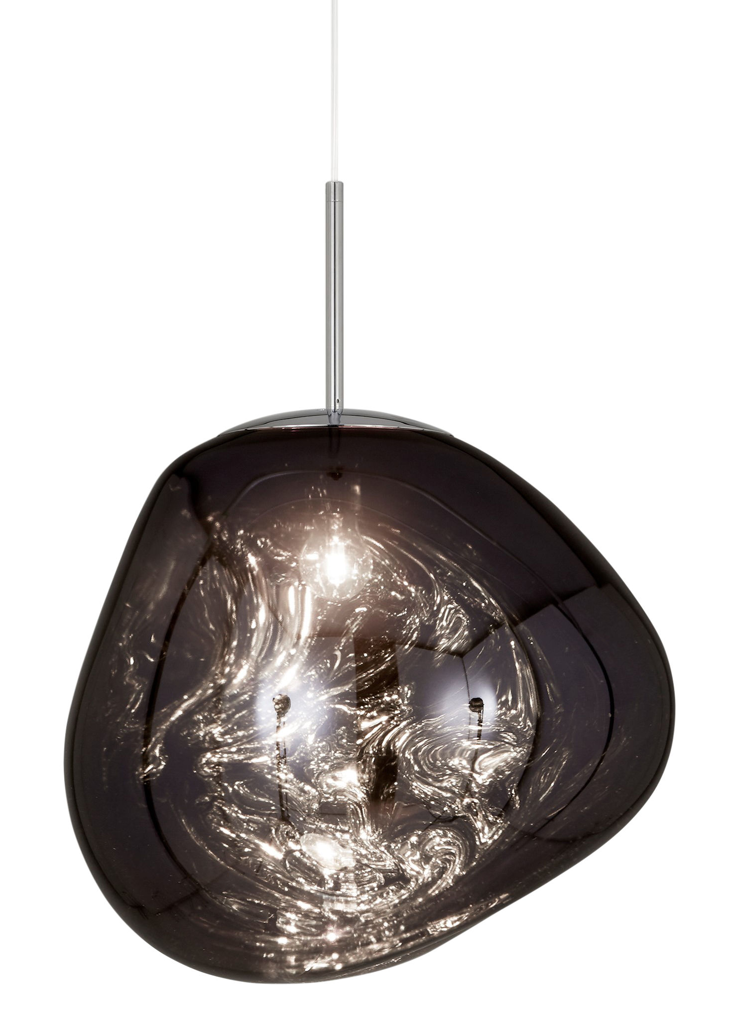 Lighting - Pendant Lighting - Melt Pendant - / Ø 50 cm by Tom Dixon - Smoked - Polycarbonate