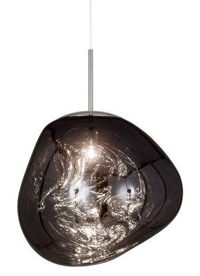 Leuchten - Pendelleuchten - Melt Pendelleuchte / Ø 50 cm - Tom Dixon - Rauchglas-Optik - Polykarbonat