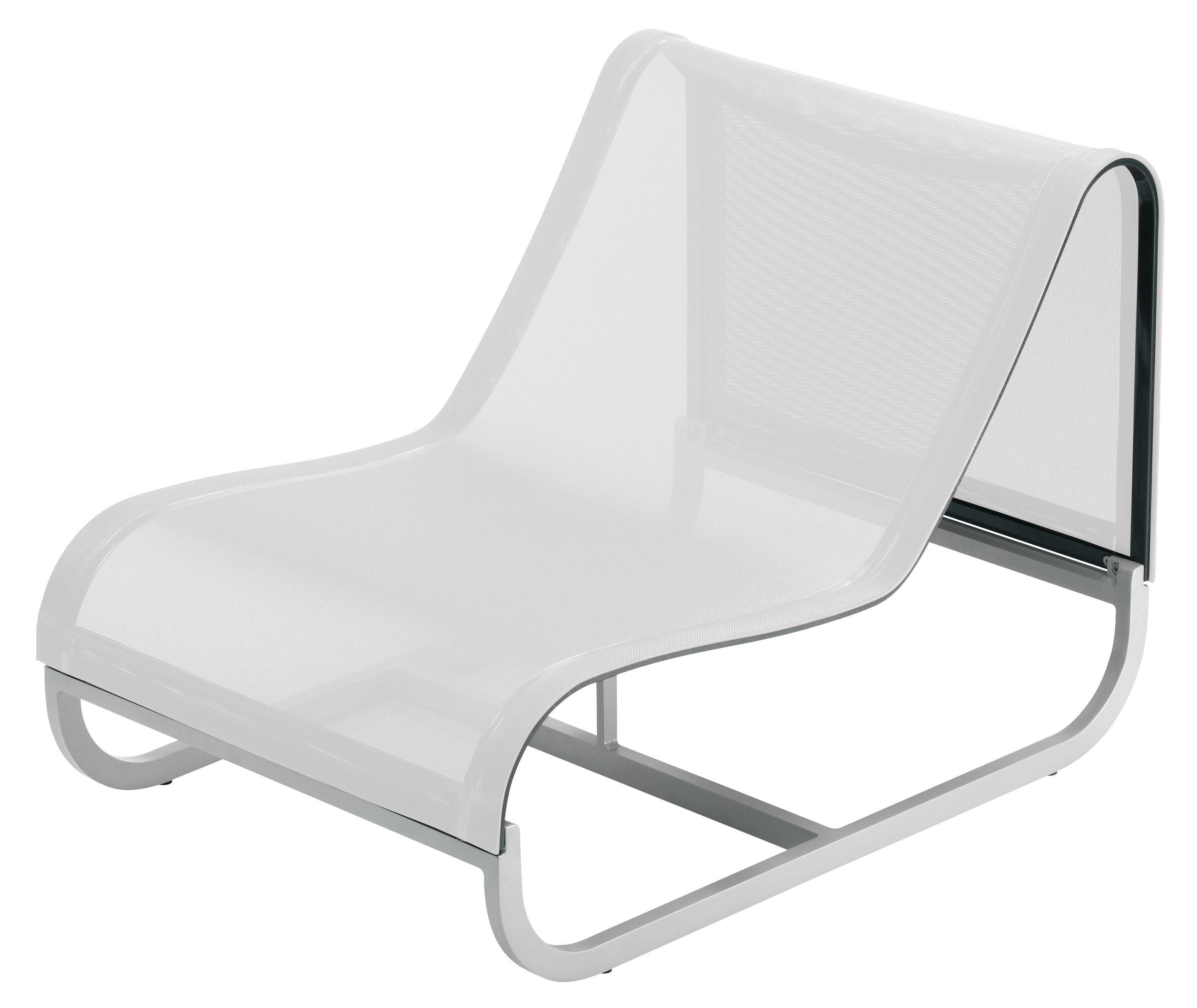Outdoor - Poltrone - Poltrona bassa Tandem - Modulo centrale di EGO Paris - Tela bianca - Alluminio laccato, Tela Batyline