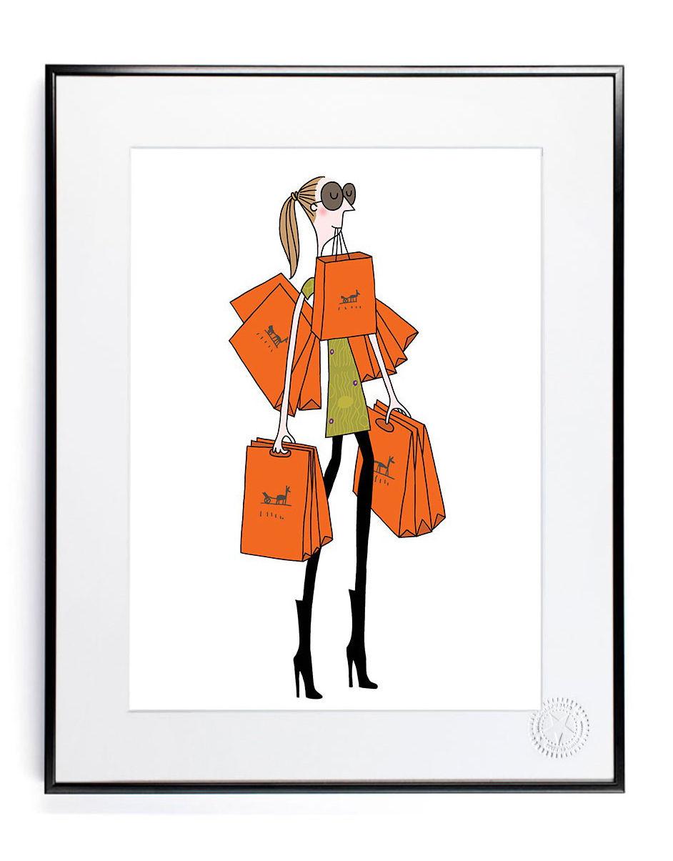 Decoration - Home Accessories - Soledad - Sac orange Poster - 30 x 40 cm by Image Republic - Orange bag - Paper