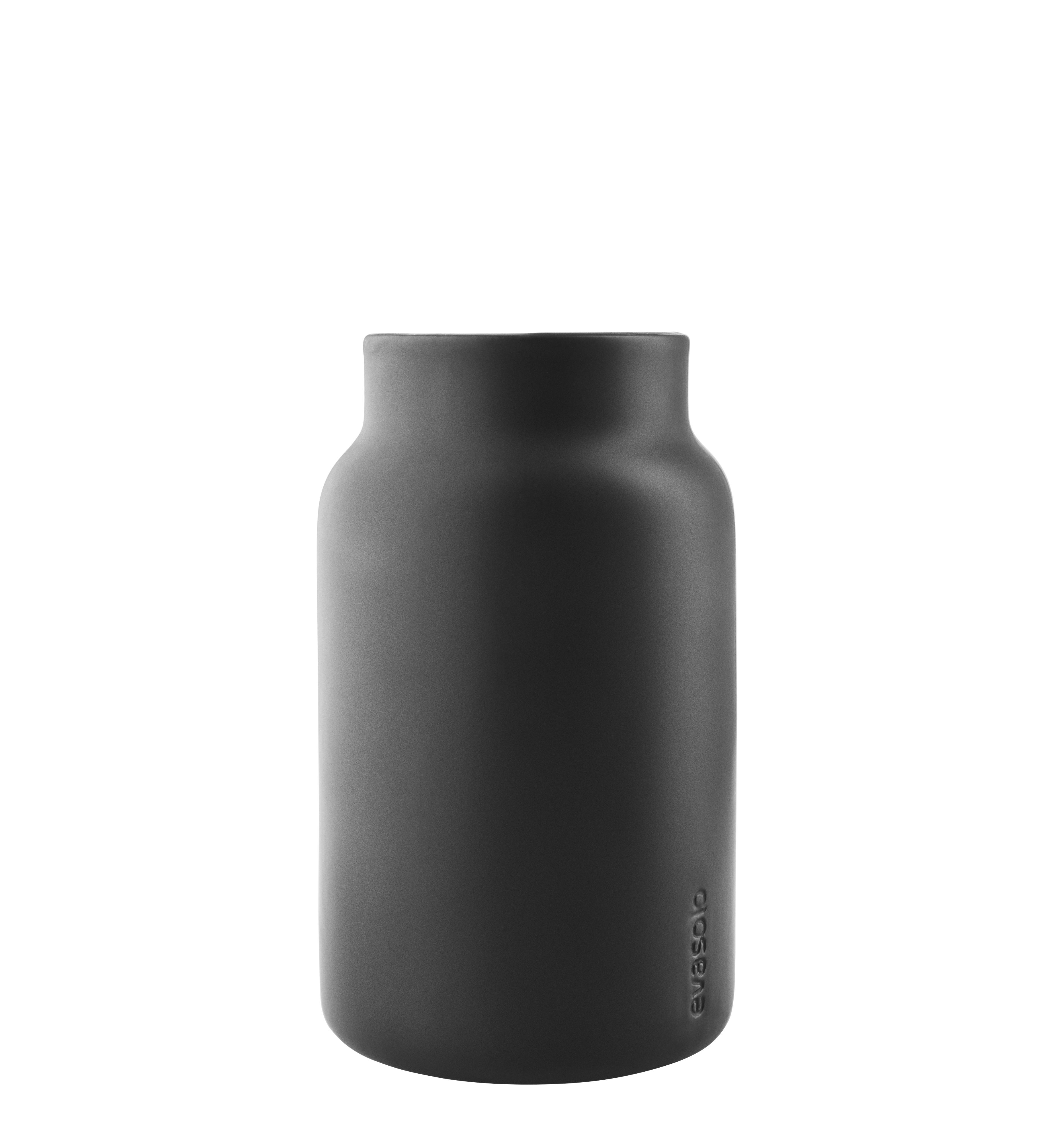 Accessories - Bathroom Accessories - Pot - / Multifunctional jar by Eva Solo - Matt black - Ceramic