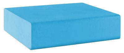 Pouf Matrass Mat 75 - Quinze & Milan bleu ciel en matière plastique