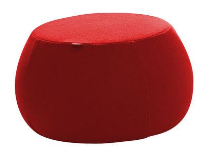 Mobilier - Poufs - Pouf Pix Mini / Ø 55 x H 32 cm - Arper - Rouge - Mousse polyuréthane, Tissu Kvadrat