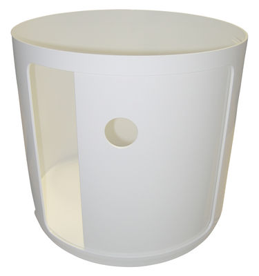 Mobilier - Mobilier Ados - Rangement Componibili / 1 tiroir - H 38  cm - Kartell - Meuble / Blanc - ABS