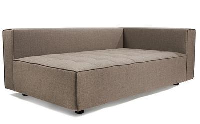 Möbel - Sofas - Kilt Sofa / Stoff - Armlehne rechts - L 172 cm - Zanotta - Taupe - Gewebe, Polyurethan-Schaum, Stahl